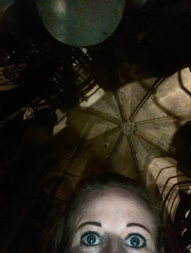Nachts im Lambertikirchturm