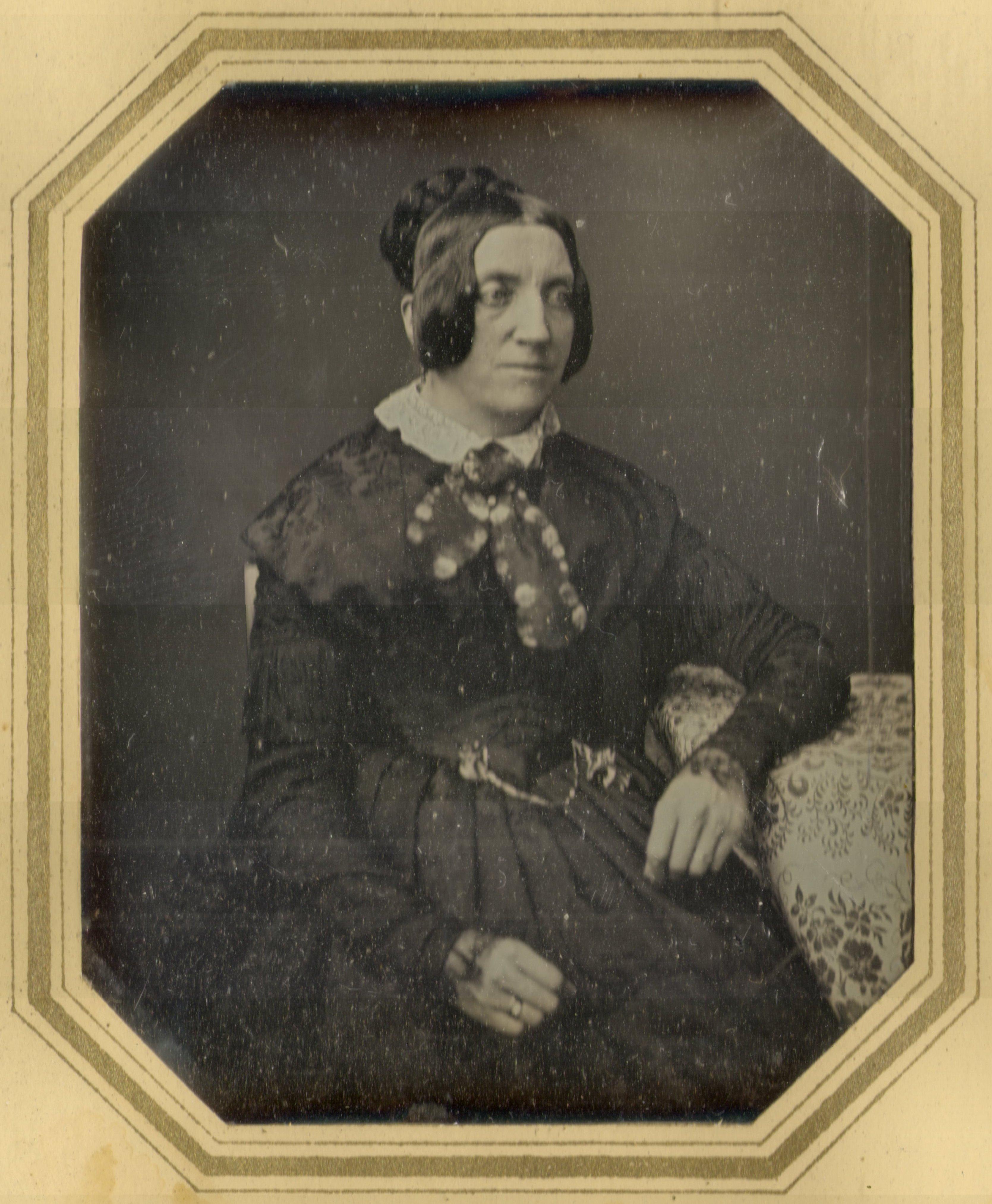 WIkipedia-Bild (Daguerreotypie) von Annette von Droste-Hülshoff