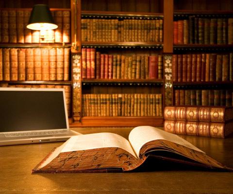"""Books and Laptop"" by Kathleen Zarubin"