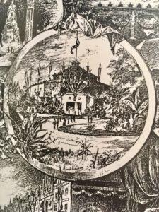 Zeichnung Katholikentags-Zeltgebäude