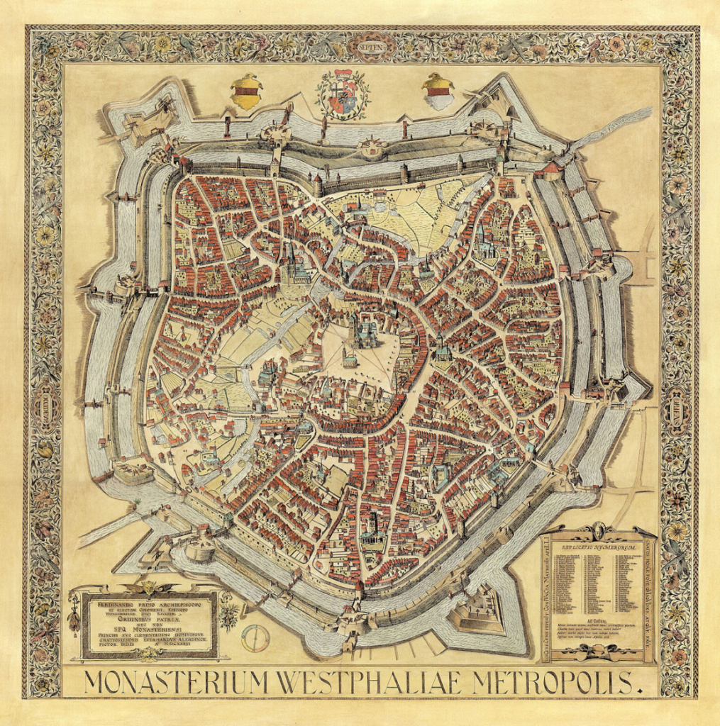 Monasterium Westphaliae metropolis - Vogelschauplan