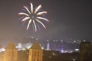 Schnappschuss vom Feuerwerk