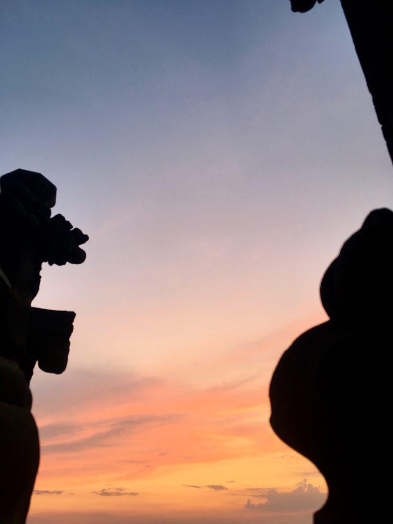 Abendsonne auf Lamberti - wie ein Caspar-David-Friedrich-Gemälde!