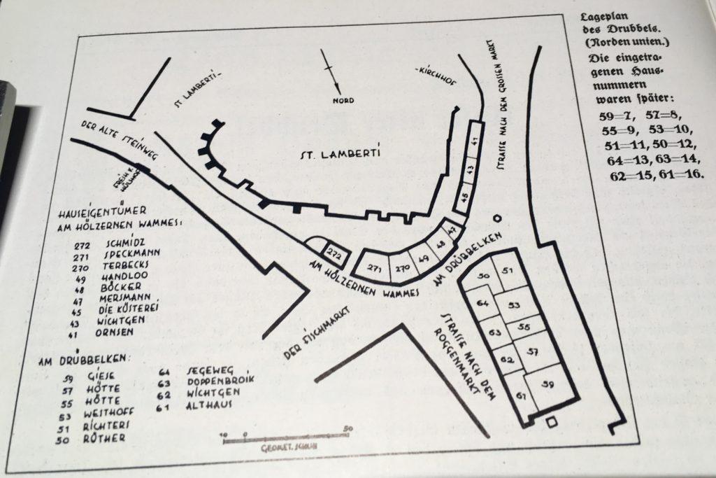 Lageplan des Drubbels aus Das schöne Münster, August 1941