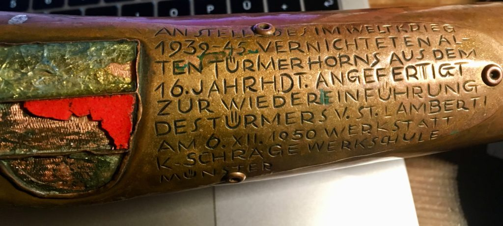 Inschrift am Türmerhorn