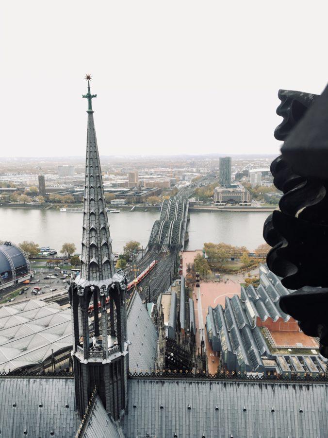 Hohenzollernbrücke vom Dom aus