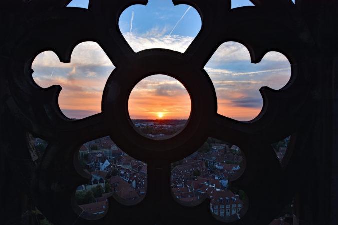 Birgit Leimann Sonnenuntergang auf St. Lamberti
