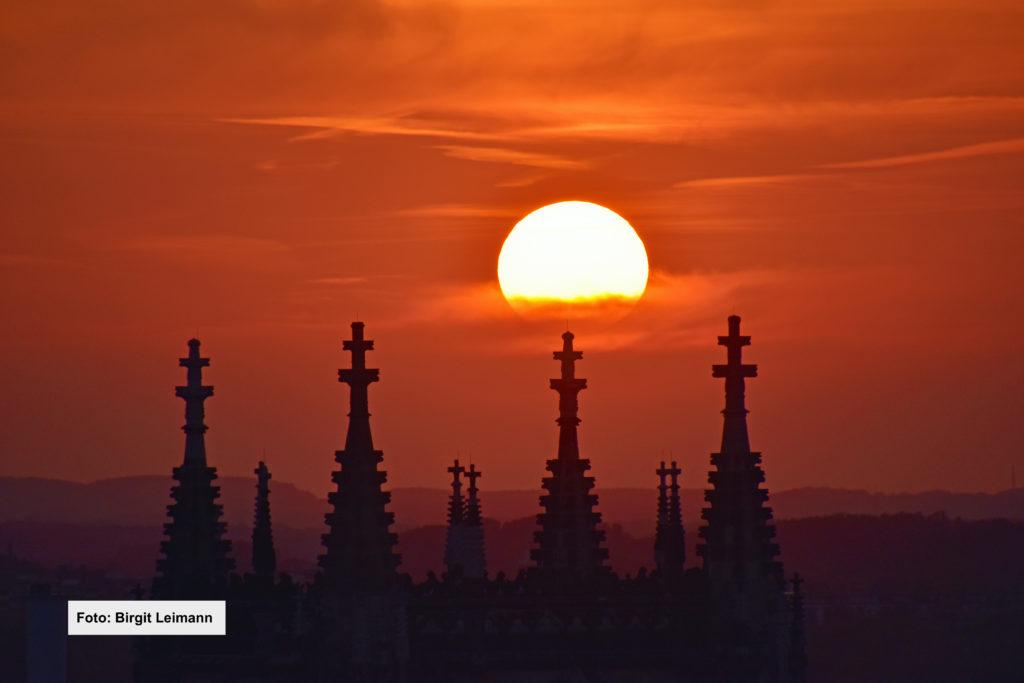 Foto: Birgit Leimann; Sonnenuntergang