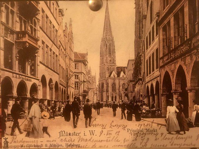 Historische Postkarte um 1900 von St. Lamberti