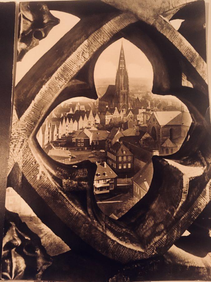 Alte Postkarte mit Lambertikirche