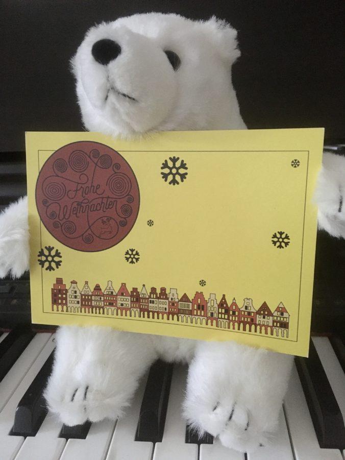 Weihnachtspostkarte MARTJE